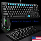 kit pc gamer - Mechanical Keyboard and  Wire Mouse Set Kit USB for Computer PC Multimedia Gamer