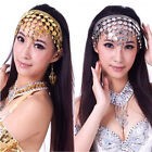 Women Belly Dance Accessories Costume Dancing Coin Sequins Hair Band Headband KW