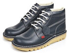 Kickers Kick Hi Lthr Mens Navy White Boots