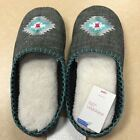 NEW, Embroidered Slide Women's Slipper - Xhilaration Gray/Turquoise