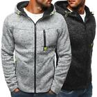 Men Casual Hooded Long Sleeve Zip-up Hoodie Sports Wear TXSU