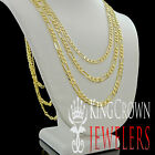 "Men's New Real 100% 10k Yellow Gold Figaro Cuban Link Chain Necklace 4mm 18""~26"""