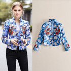 New Occident fashion collar double-breasted decorative embroidery jacquard coat