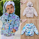 Toddler Kids Baby Girl Animal Unicorn Hooded Outwear Wind Jacket Clothes Autumn
