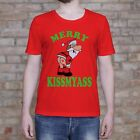 Merry KissMyAss Shirt. Merry Christmas T-Shirt Gift. Santa Claus Funny Tee