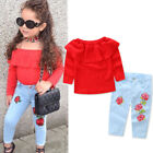 Baby - Kids Baby Girl Outfit Sets Shirt T-shirt Tops+Long Pants Jeans Clothes US STOCK