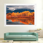 Modern Lake Forest Mountain Scenery Oil Painting Print Canvas Art Wall Home Deco