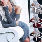 Women Sweater Sexy Bandage Bodycon Knitted Backless Dress Jumper Pullovers Top