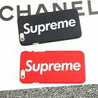 Supreme Case Cover For Apple iPhone 5 / 6 / 7 / 7+ / 8 / 8 Plus, X - Black & Red