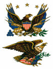 Внешний вид - Vintage Image Retro Patriotic Early American Eagle Waterslide Decals MIS519