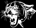 Cougar 1 Color Window Wall Vinyl Decal Sticker Printed Mascot Graphic