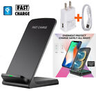 2 Coils Qi Wireless Fast Charger Charging Stand Dock for Samsung S8 S9 iPhoneX 8