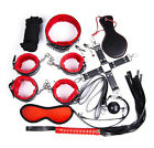 Other Sexual Wellness - 10pcs Kit Bed Bondage Set Collar Whip Hand Ankle Cuffs Kinky Restraint SM Tool