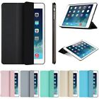 Ultra Slim Leather Stand Hard Back Cover Case For Ipad 2 3 4 5 6 7 Air Mini Pro