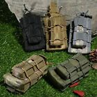 Double Rifle & Pistol Magazine Pouch Cartridge Clip Hunting Bag Tactical Tool