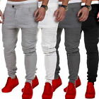 Mens Sport Skinny Pants Long Trousers Tracksuit Fitness Workout Joggers Gym Wear