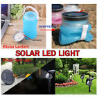 OUTAD LED Silicone Lantern Rechargeable With the Solar Panel or USB Cable Blue F