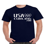 Usa Curling T Shirt Pyeongchang Winter Olympics Games 2108 Youth And Mens Sizes