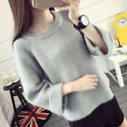 Korean Women Sweater Autumn Spring Girl Loose Pullover Knitted Jumper Top Sweet