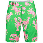 RLX Golf by Ralph Lauren Pink Lobster Crab Lightweight Performance Loud Shorts