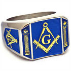 Masonic Ring Gold Compass Square G Master Mason Blue Lodge 3rd Degree Size 9-15