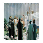 Jesus Teaching 71X71* Shower Curtain Fabric Polyester Panels Religious Believe