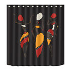 African Woman Print 180CM Waterproof Shower Curtain Fabric Polyester Panels Set