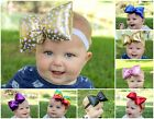 Pillow Bow baby girl headbands, 11 colors, baby and toddler big bows RTS