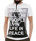 IMAGINE PEACE / Man, White, T-Shirt
