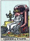 7713.Vintage design POSTER.Home room office wall decor.Queen of Cups.Tarot card.