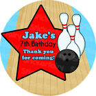 1xA4 Sheet Personalised boys bowling Birthday Party bags labels STICKERS