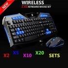 kit pc gamer - Gaming Wireless keyboard and Mouse Set Kit to Computer PC Multimedia Gamer LOT
