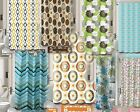 Внешний вид - 15PC BATHROOM BATH MAT SET RUG CARPET FABRIC SHOWER CURTAIN COVERED RINGS PRINT