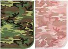 Camouflage Infant Receiving Baby Thermal Knit Cotton Blanket