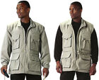 Khaki Safari Trailblazer Tactical Convertible Vest Jacket with Removable Sleeves