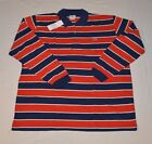 NEW LACOSTE POLO MEN'S BIG STRIPED RED BLUE BLACK GRAY COTTON LONG SLEEVE SHIRT