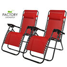 [Multi-Colors] Zero Gravity Folding Recliner Yard Beach Chairs Patio Lounge 2PC