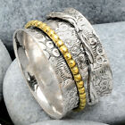 Two Tone Spinner 925 Sterling Silver Ring Jewelry DGR1056
