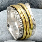 Two Tone Spinner 925 Sterling Silver Ring Jewelry DGR1058