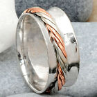 Two Tone Spinner 925 Sterling Silver Ring Jewelry DGR1053