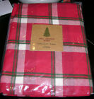 Well Dressed Home CHRISTMAS PLAID Red, Green & White Tablecloths or Napkins--NWT
