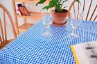 Oilcloth Tablecloth - Gingham Oilcloth Tablecloth - Blue and White