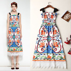 18 Occident new fashion Printed makings water soluble side shoulder-straps dress