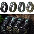 Paracord Survival Bracelet Flint Fire Starter Compass Whistle Rope Outdoor 01