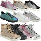 NEW YOUTH Hi Top Glitter Sneakers Ankle Boot Sparkle Fitness Girl Trainers 5-10