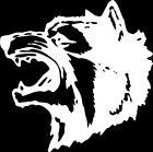 Wolf 1 Color Window Wall Vinyl Decal Sticker Printed Mascot Graphic