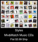 Styles(29) - Mix&Match Music CDs - $3.99 flat ship