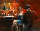 Handpainted Modern wall Decor Pop Art Cigar Bar Woman Oil Painting On Canvas
