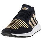 adidas Swift Run Womens Trainers Black Gold New Shoes