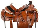 USED 15 16 WESTERN RANCH ROPING ROPER TRAIL HORSE LEATHER SADDLE TACK
